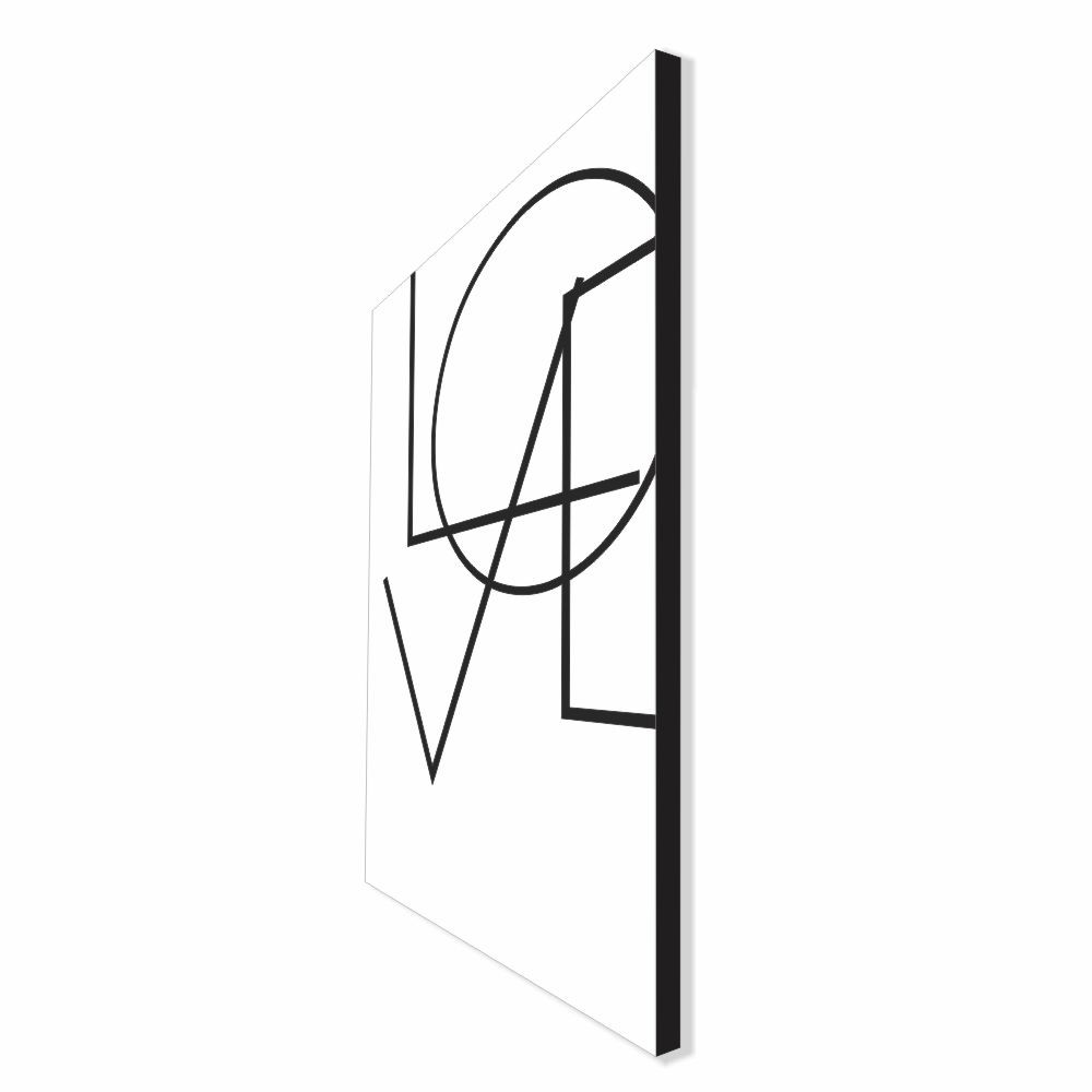 Quadro Decorativo Série Love Collection Geometric Love