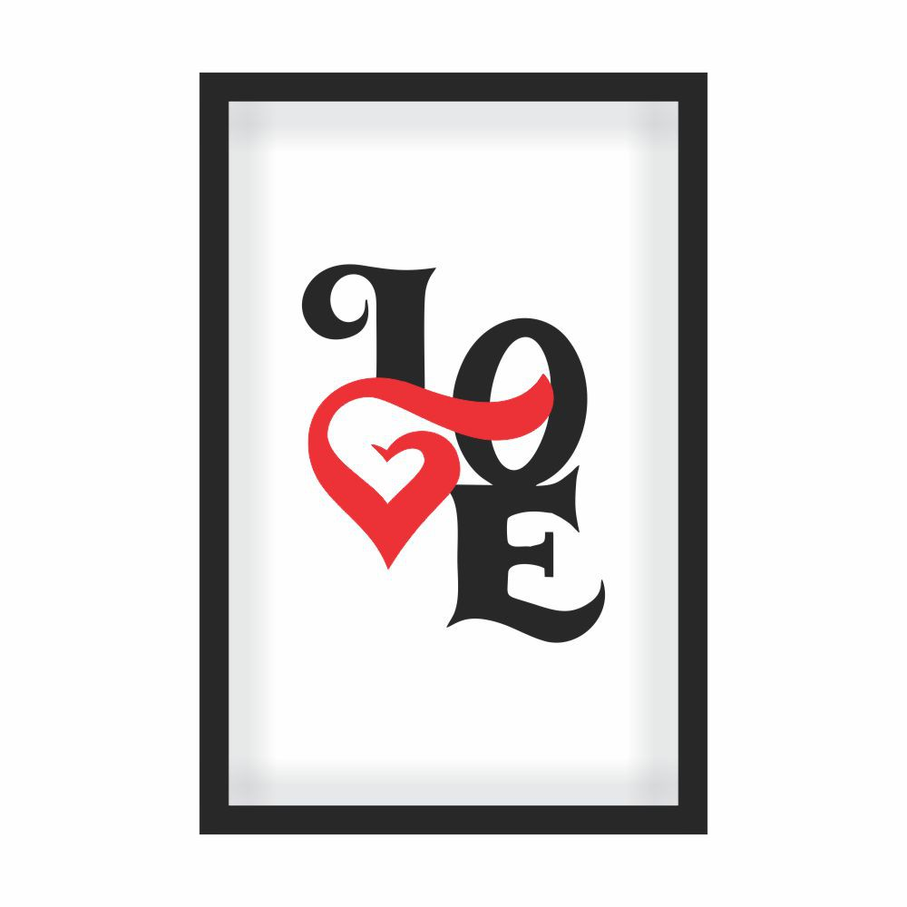 Quadro Decorativo Série Love Collection Love Heart Red
