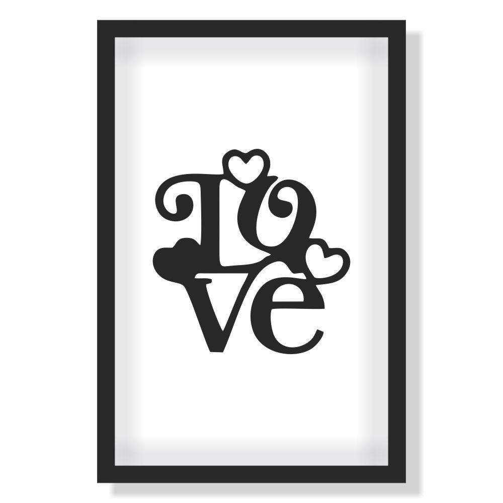 Quadro Decorativo Série Love Collection Love Minimalista