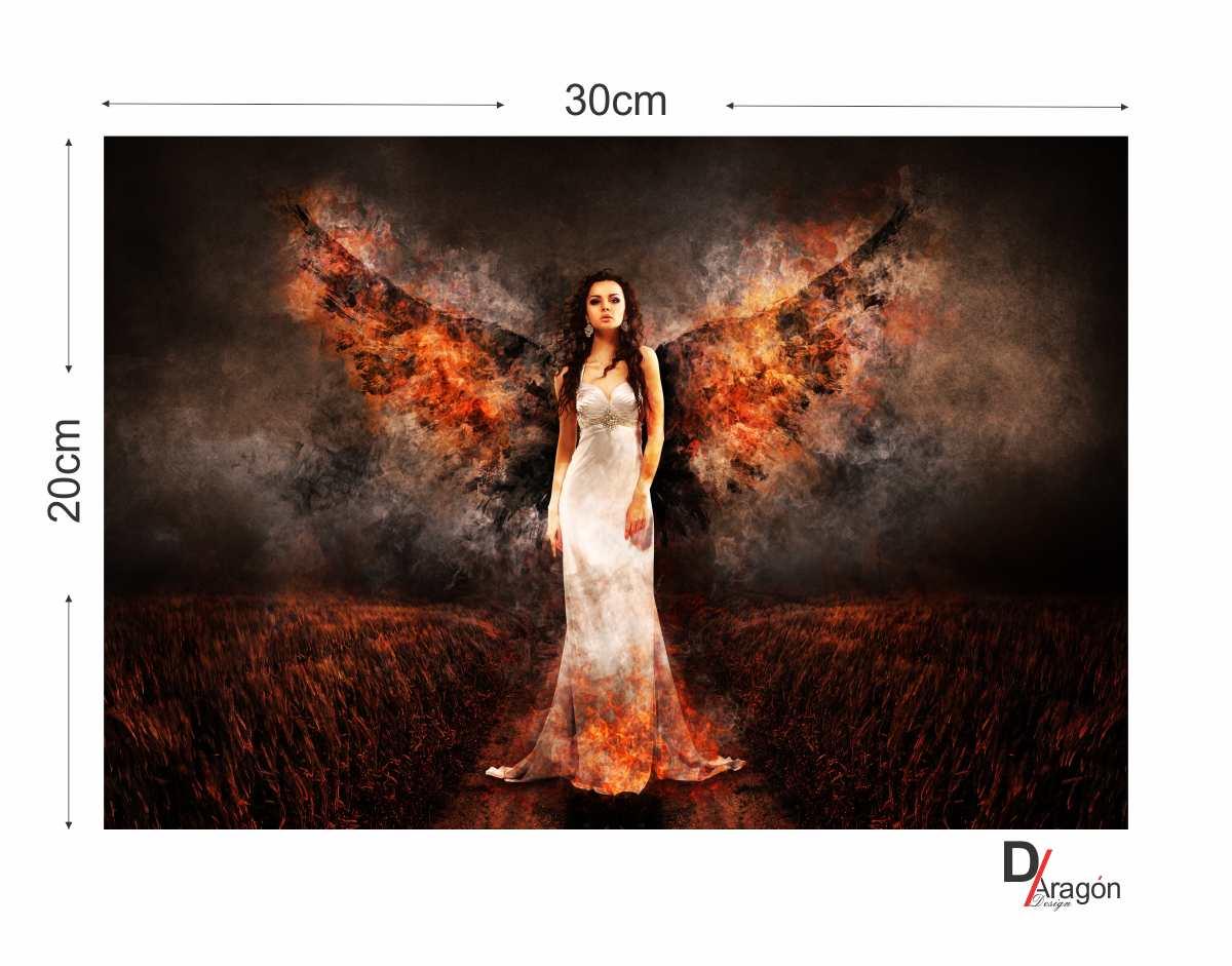 Quadro MDF 3mm Anjos e Demônios 20x30cm