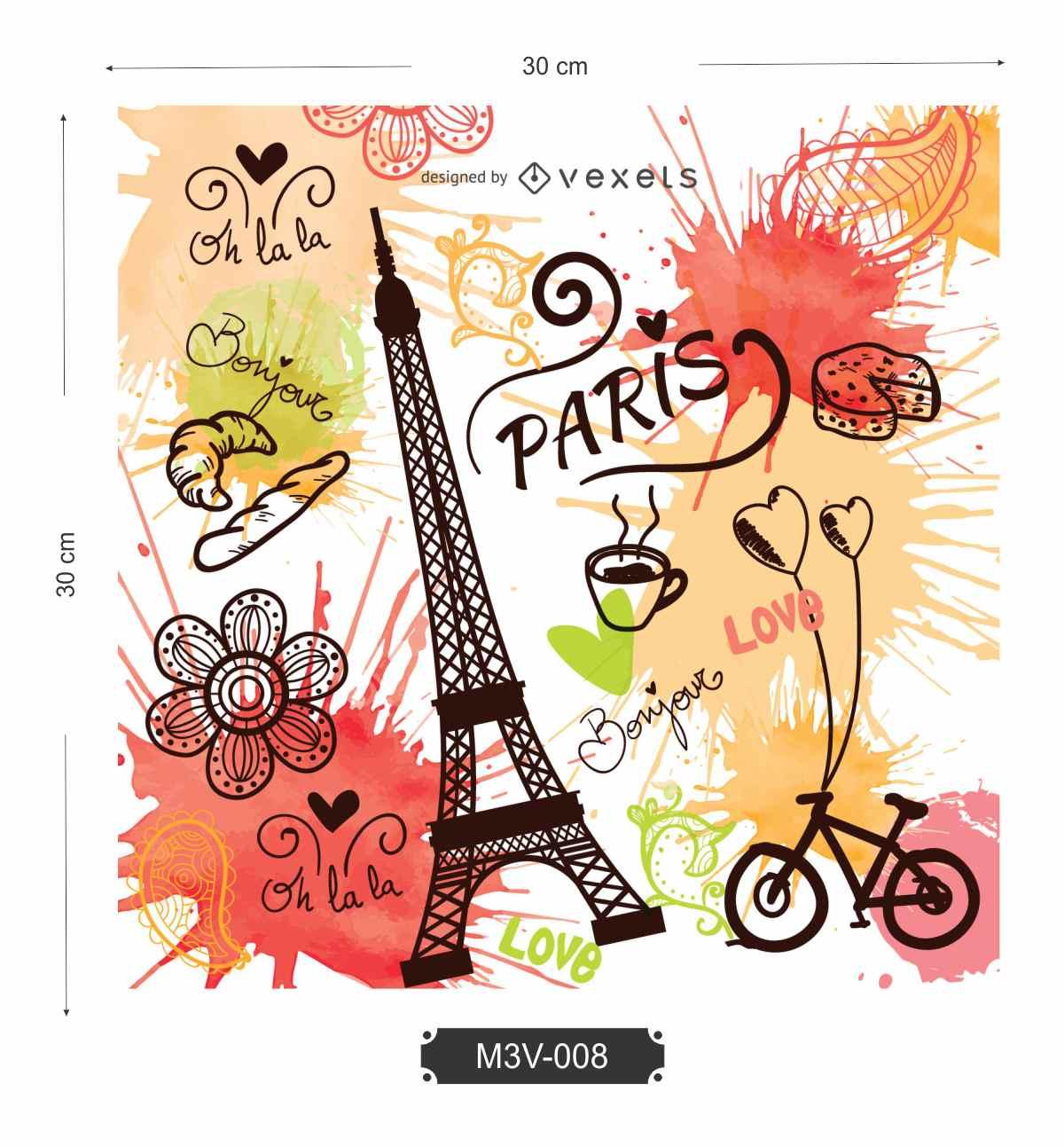 Quadro MDF 3mm Coleção Paris