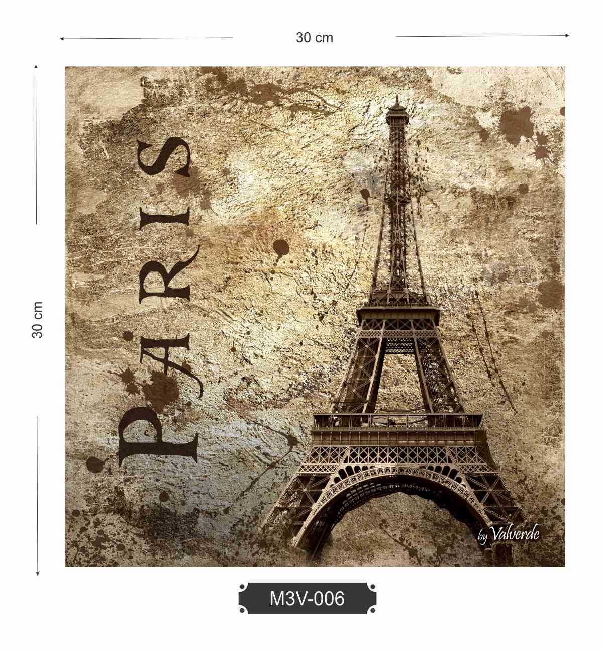 Quadro MDF 3mm Eiffel Paris