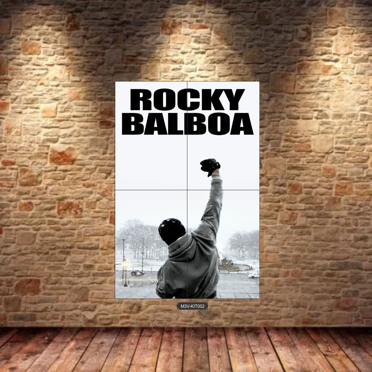Quadro MDF 3mm Gigante Rocky Balboa