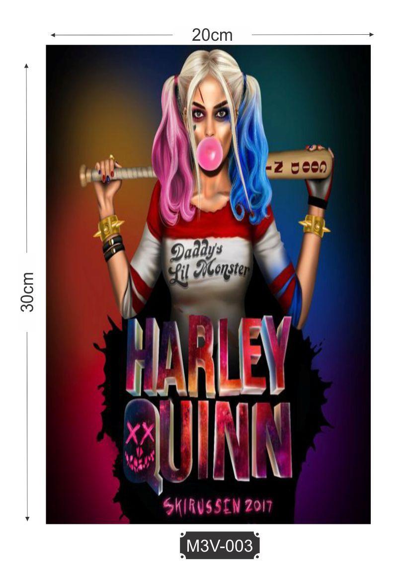 Quadro MDF 3mm Harley Quinn