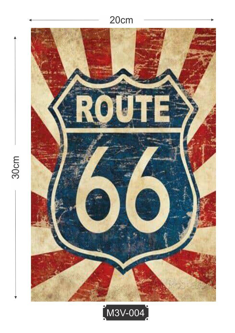 Quadro MDF 3mm Route 66