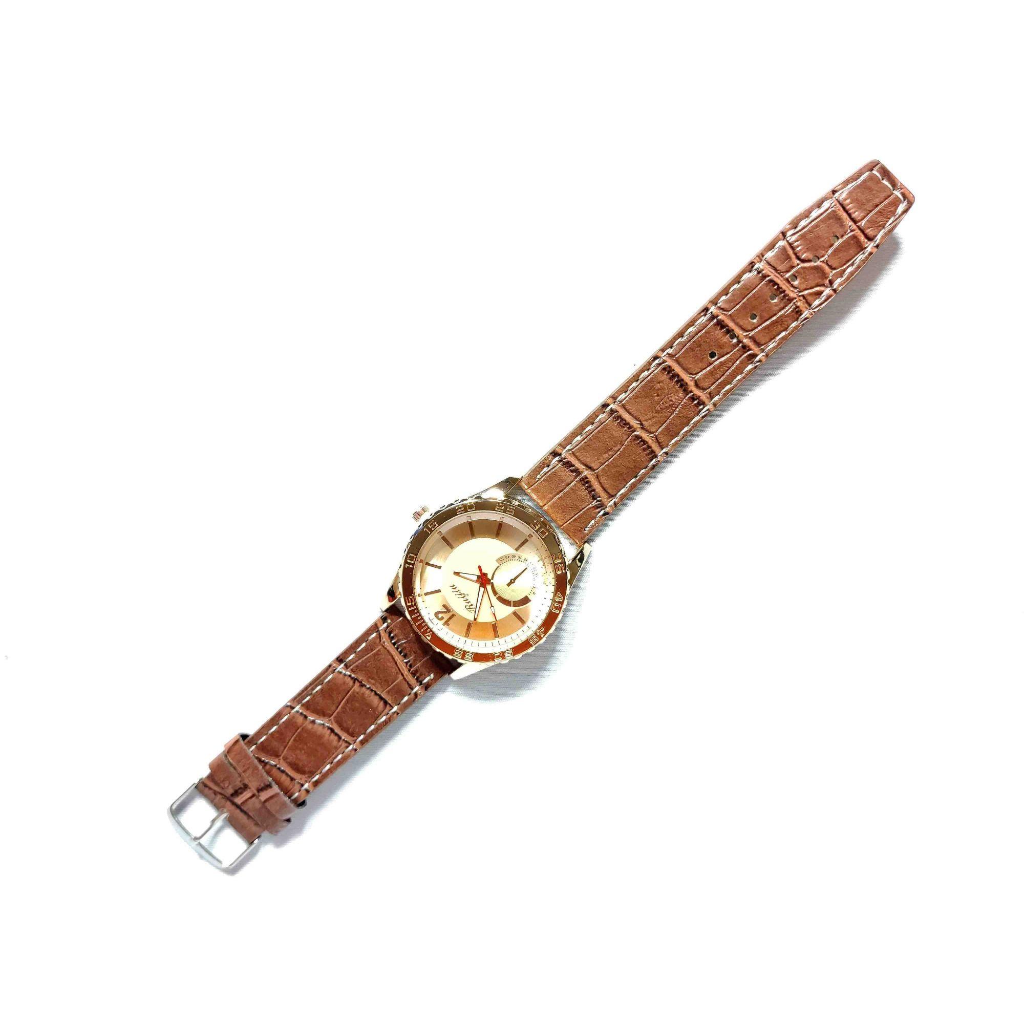 Relógio Feminino Quartz Pulseira Couro Sintético
