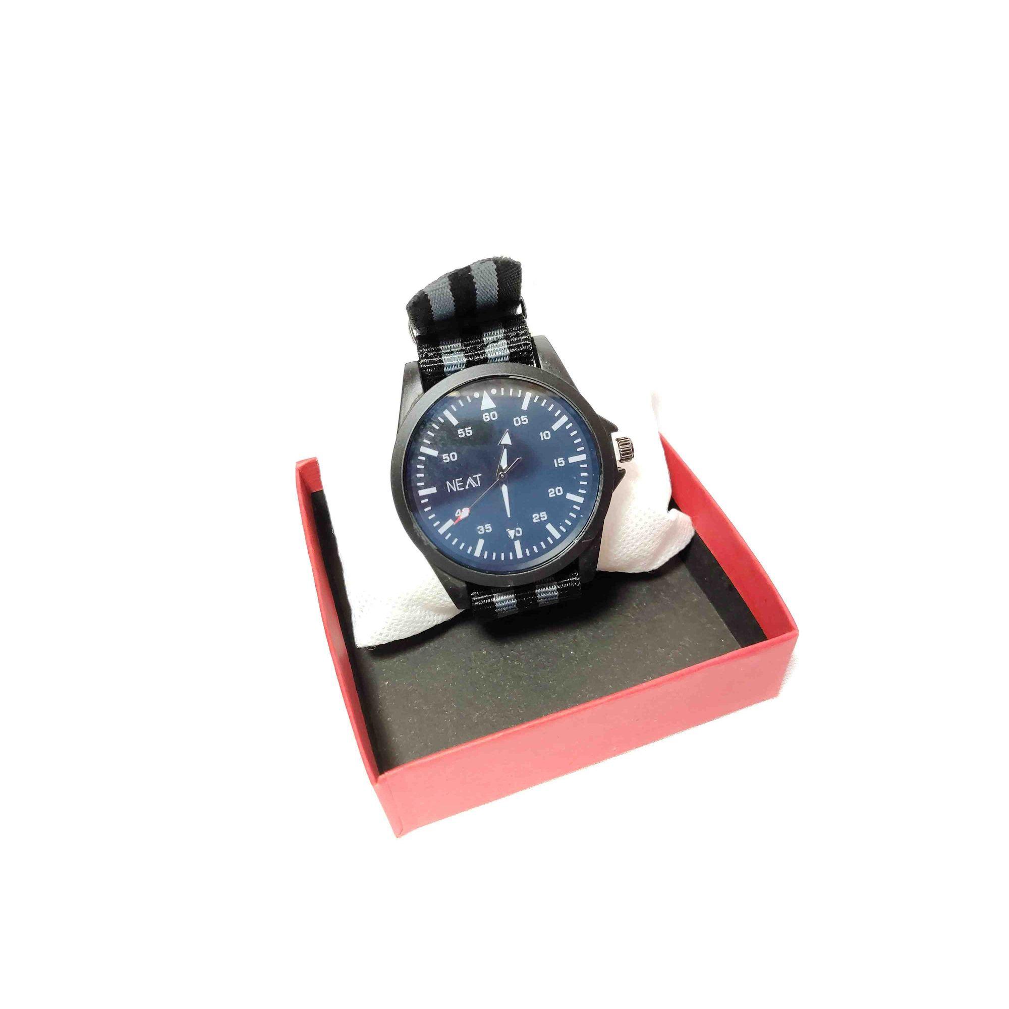 Relógio Masculino NEAT Pulseira Tecido Resistente