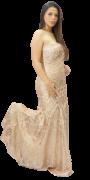 Vestido Nude Luxo Tomara que Caia