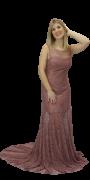Vestido Nude em Tule de renda