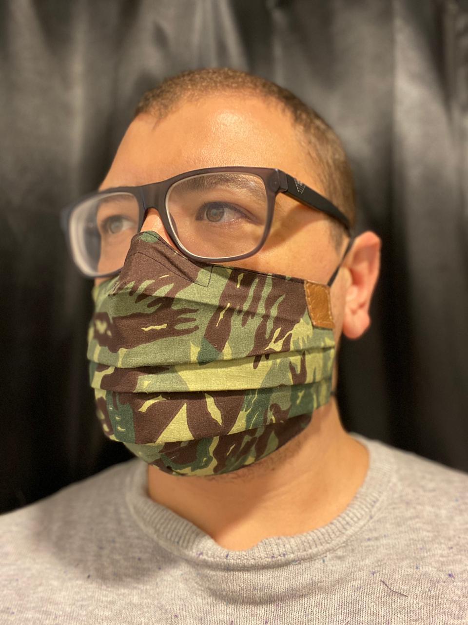 Máscara Camuflada - Novo Modelo  - CIA. DO AJUSTE