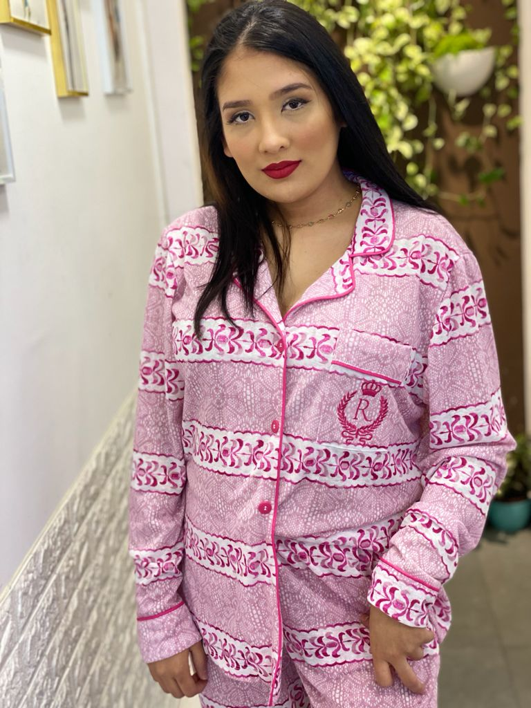Pijama Cardigan  - CIA. DO AJUSTE