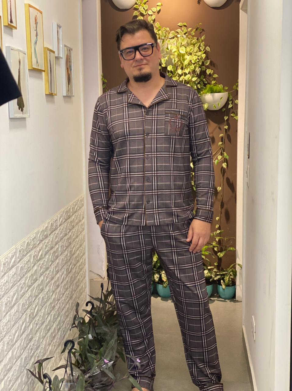 Pijama Cardigan Masculino
