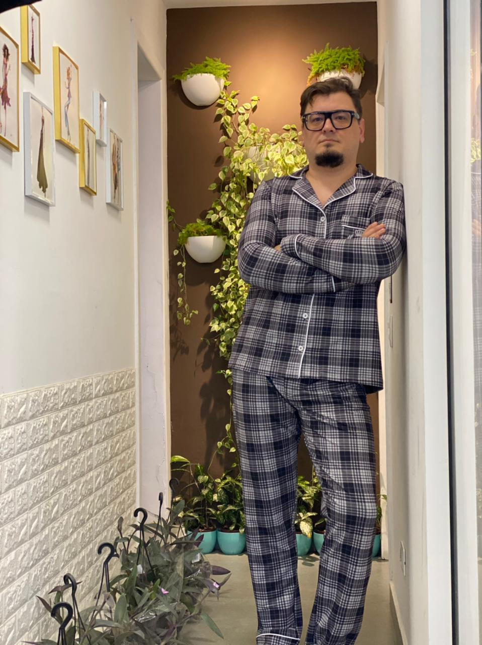 Pijama Cardigan Masculino  - CIA. DO AJUSTE