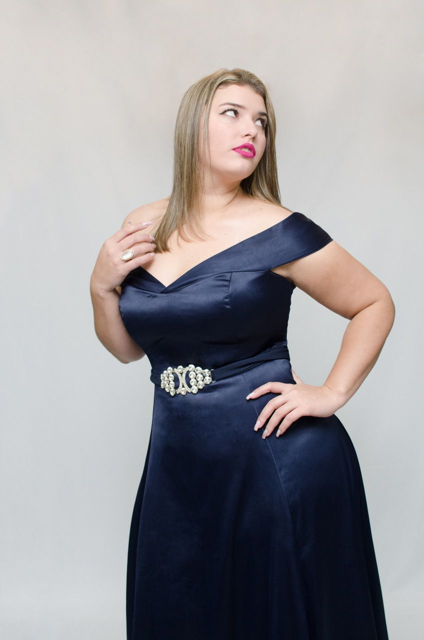 Vestido Cetim Armani