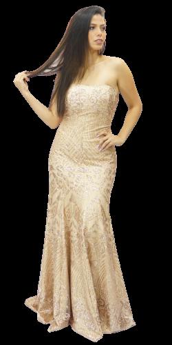 Vestido Nude Luxo Tomara que Caia  - CIA. DO AJUSTE