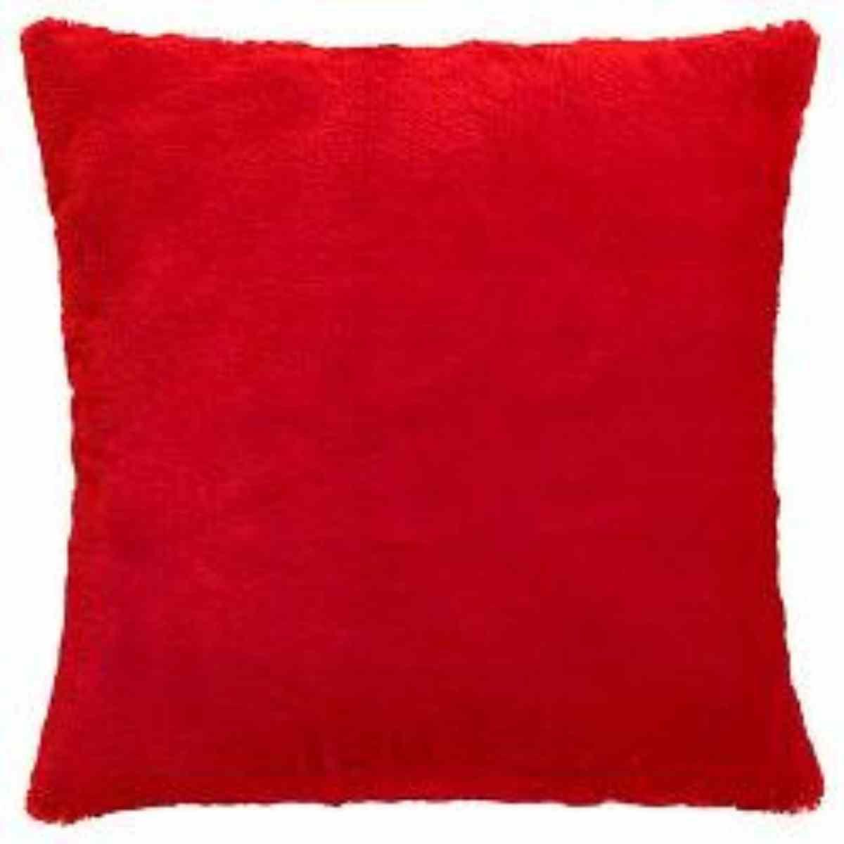 Capa Almofada Baby Soft 45x45 Vermelho
