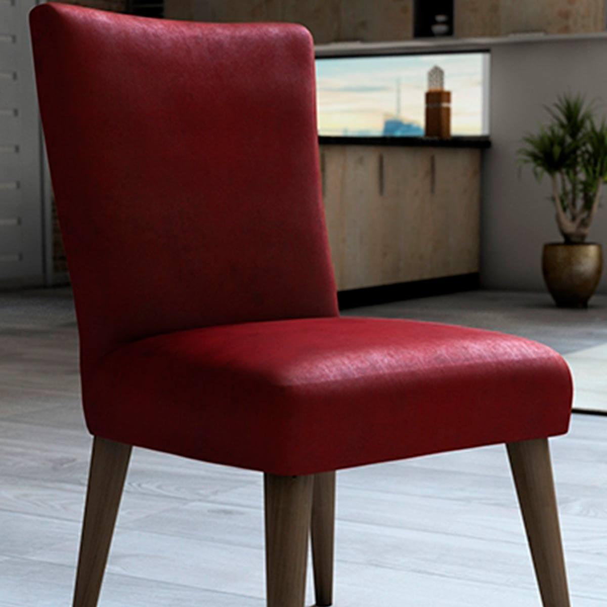 Capa Protetora Para Cadeira Veludo Vermelho