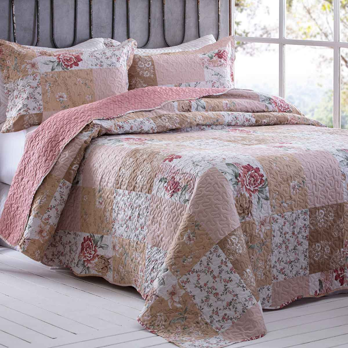 Cobreleito Patchwork Ultra Queen 3 Pcs Estela 8