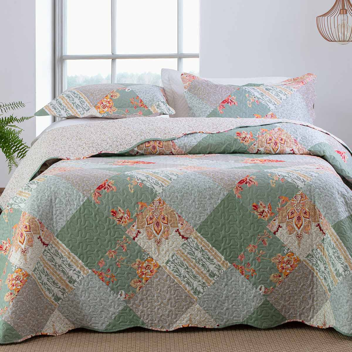 Cobreleito Patchwork Ultra Queen 3Pcs Turim 3