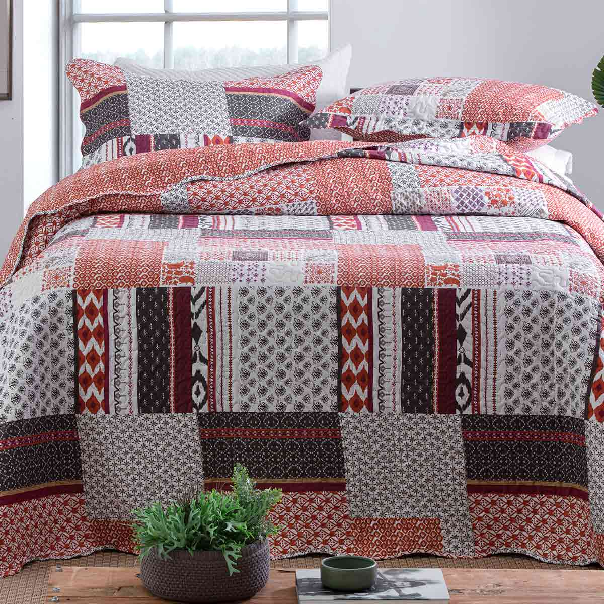 Cobreleito Patchwork Ultra Queen 3Pcs Turim 5
