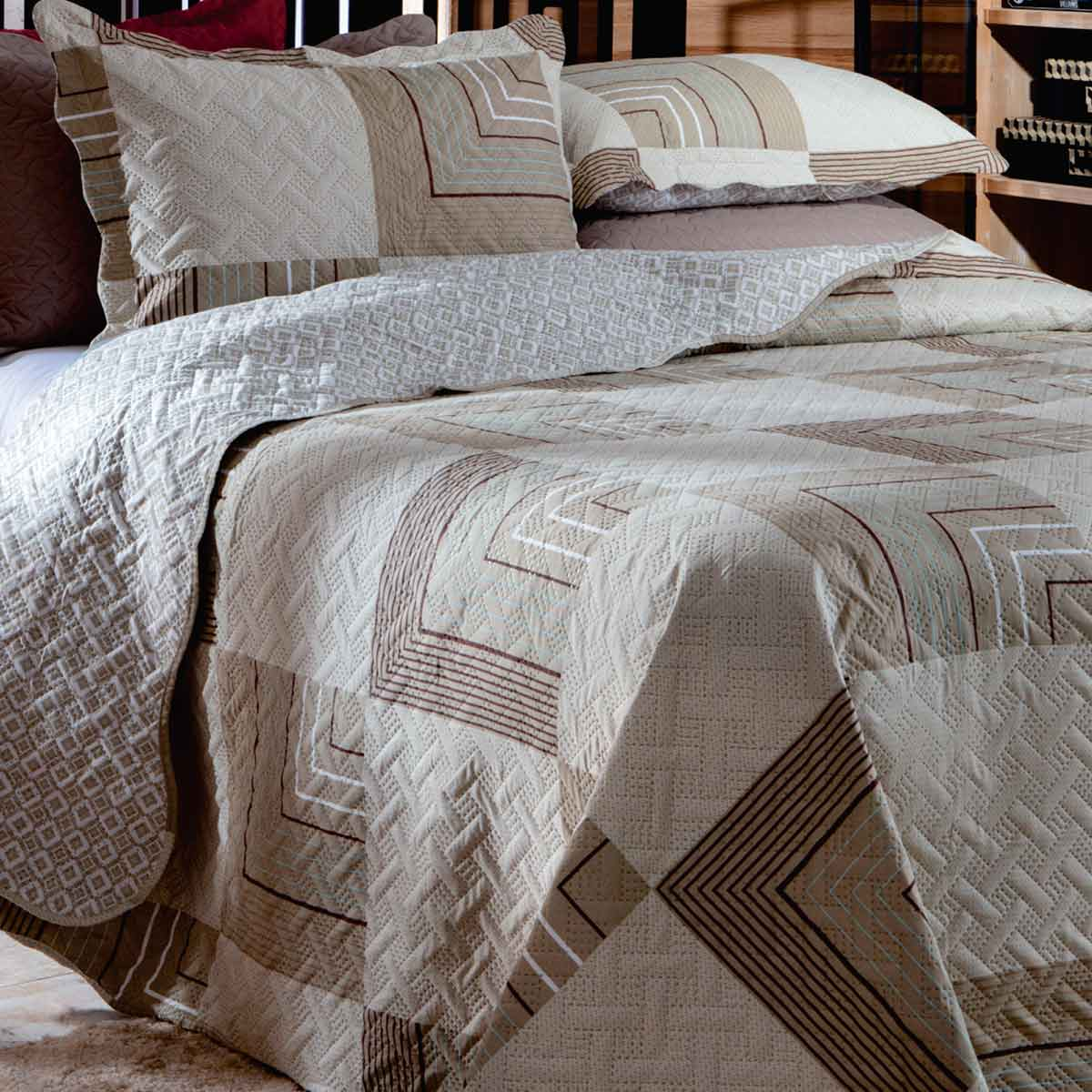 Cobreleito Patchwork Ultra Solteiro 2Pcs London Bristol 6