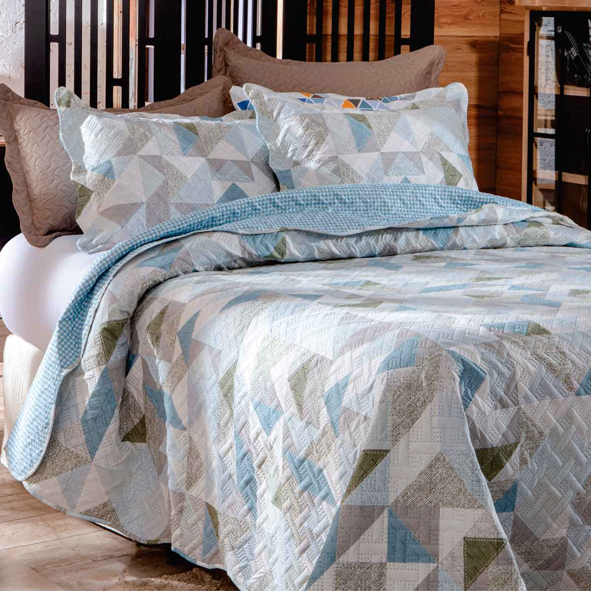 Cobreleito patchwork ultra solt 2pcs London Bristol 8