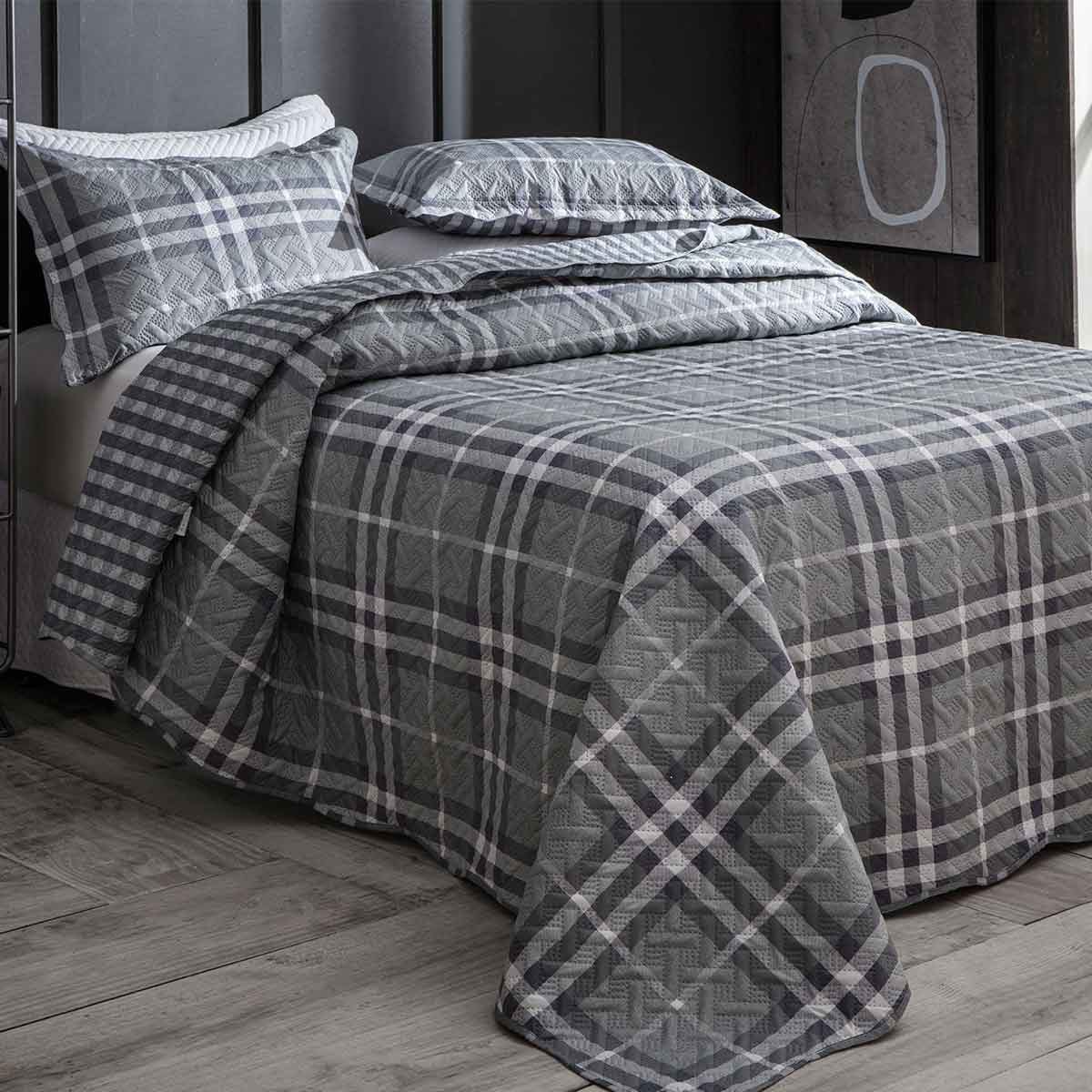 Cobreleito Patchwork Ultra Solteiro 2Pcs London Kingston 1