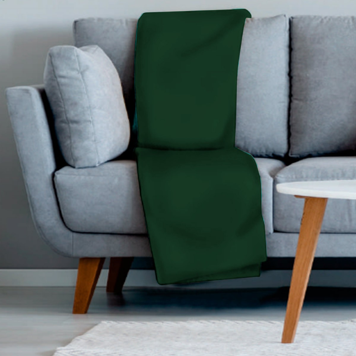 Manta sofa veludo 210x140 VERDE