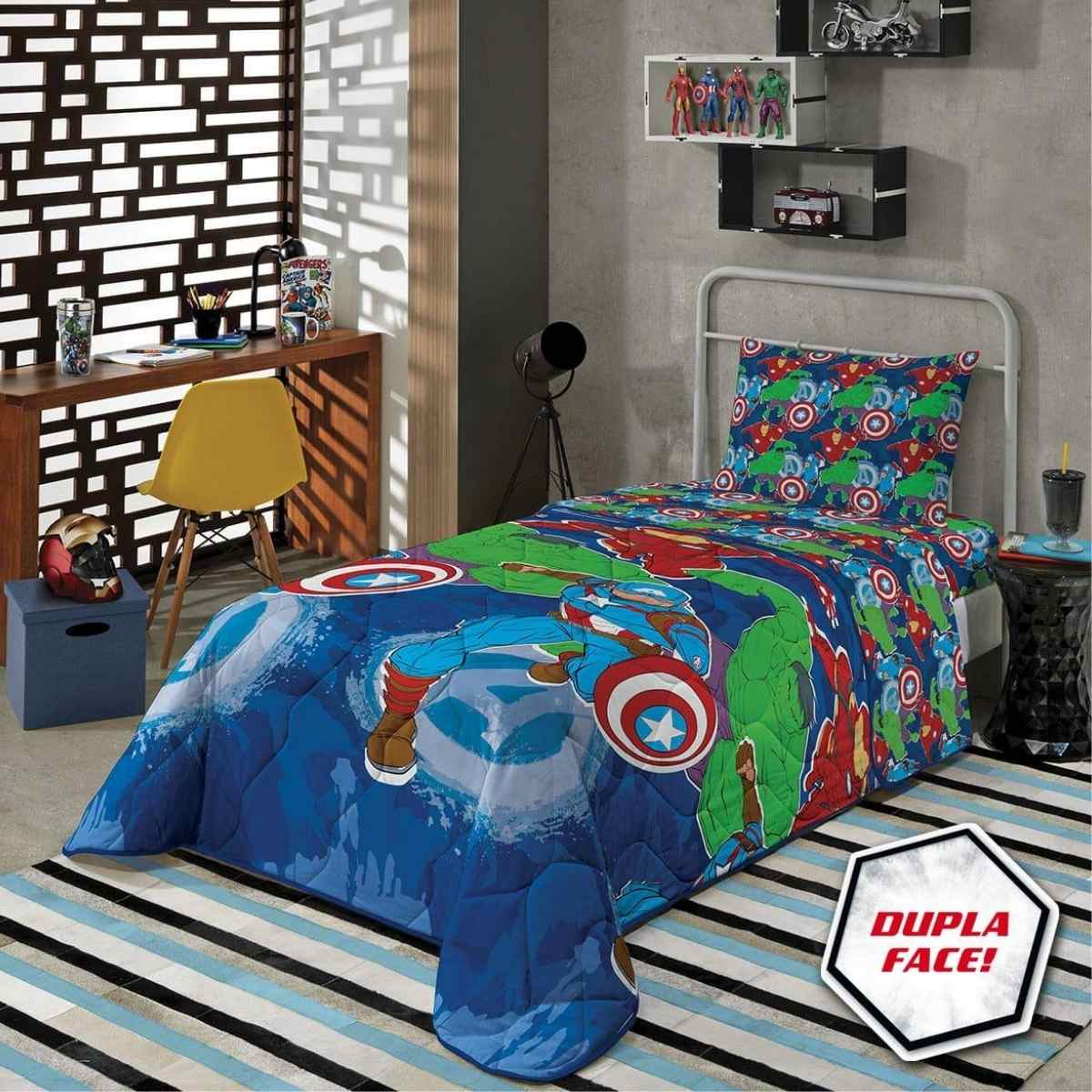 Edredom Infantil 150x220 - Avengers
