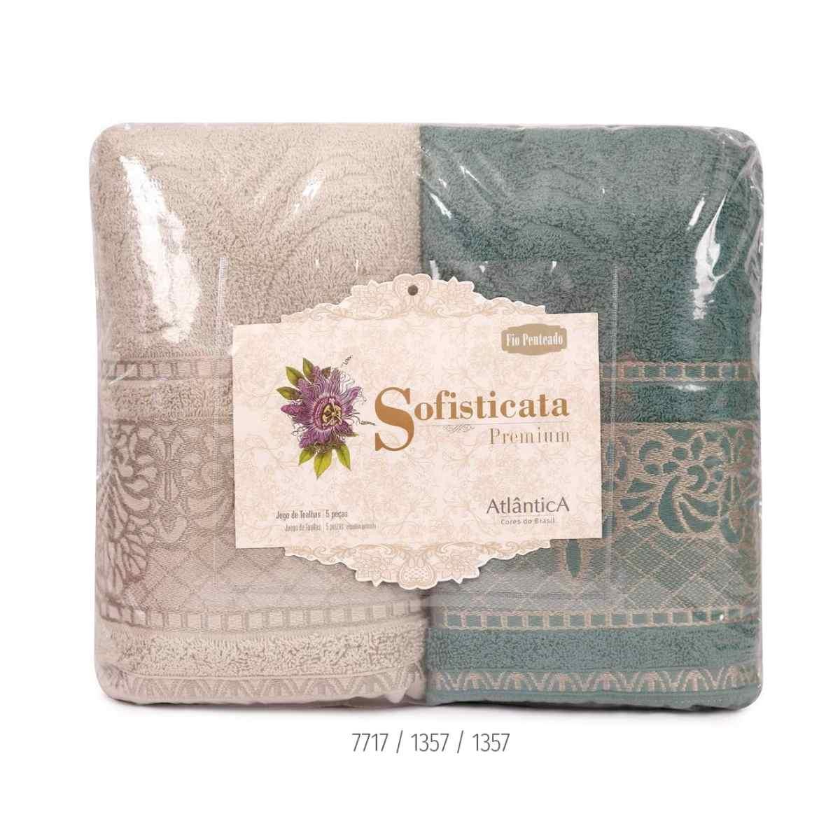 Jogo de toalha imperial 5pcs Estampado /Pedra/Verde Floresta