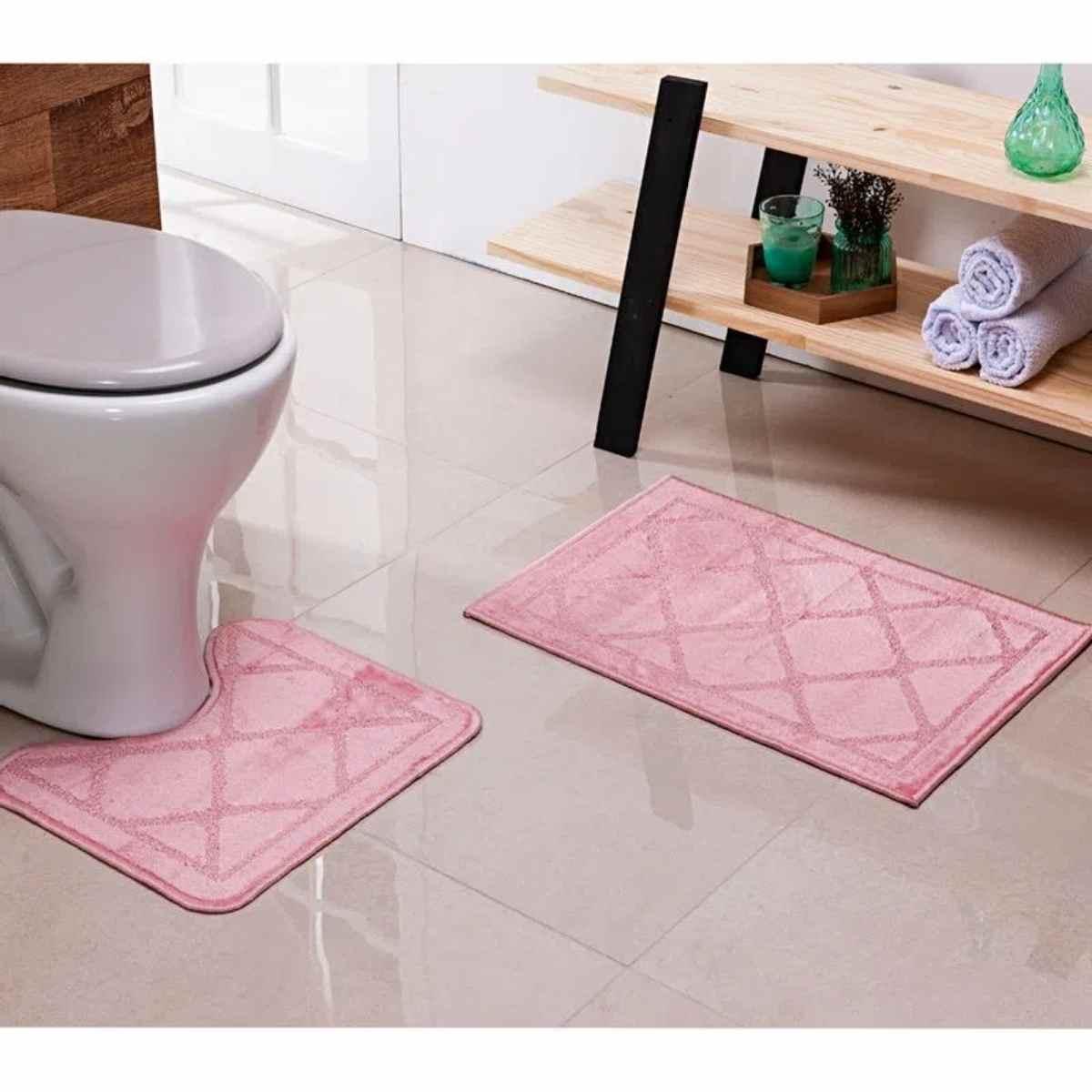 Jogo para Banheiro Sergipe 2Pçs Rosê