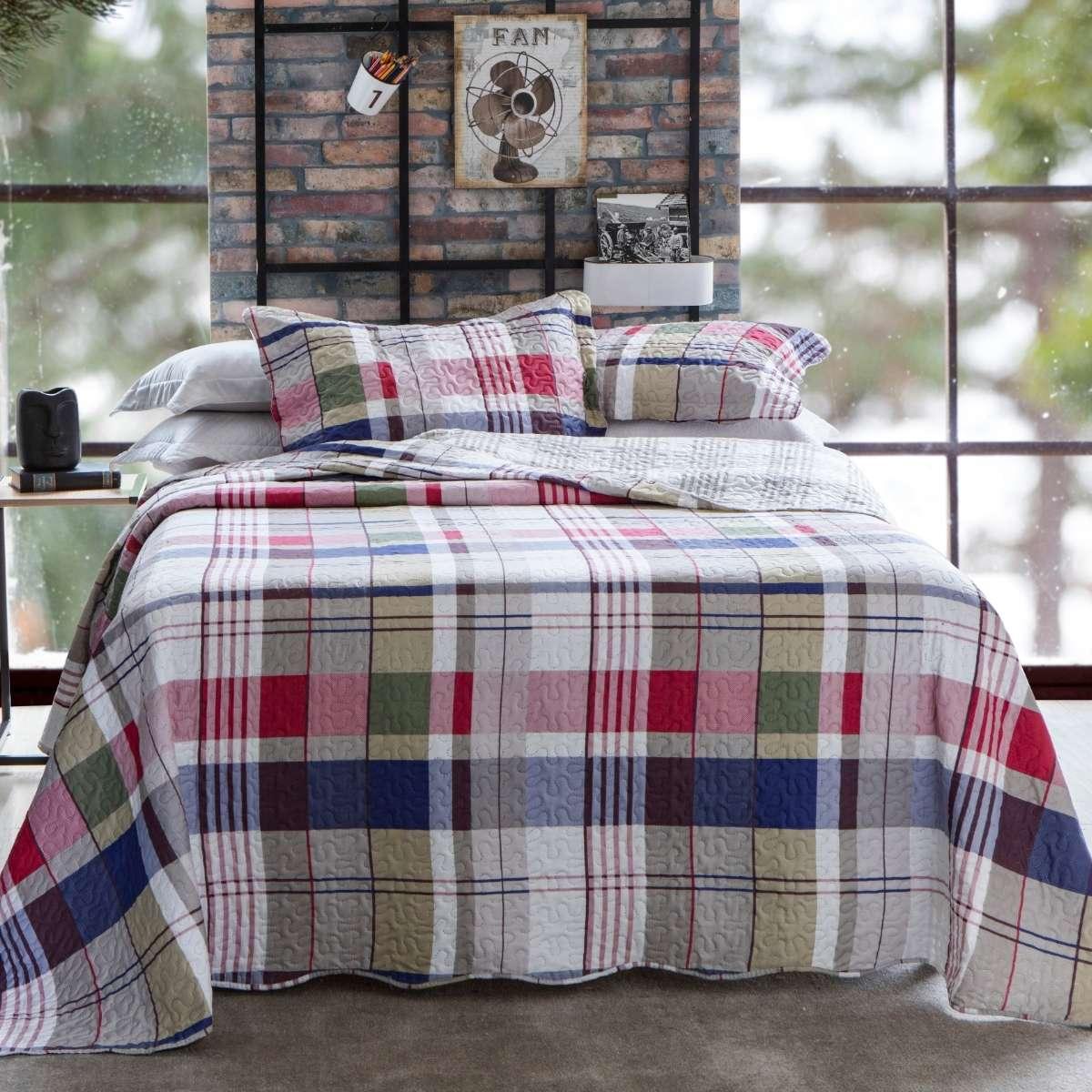 Kit Cobre-Leito Queen + 2 Porta-travesseiros Piccadilly 2