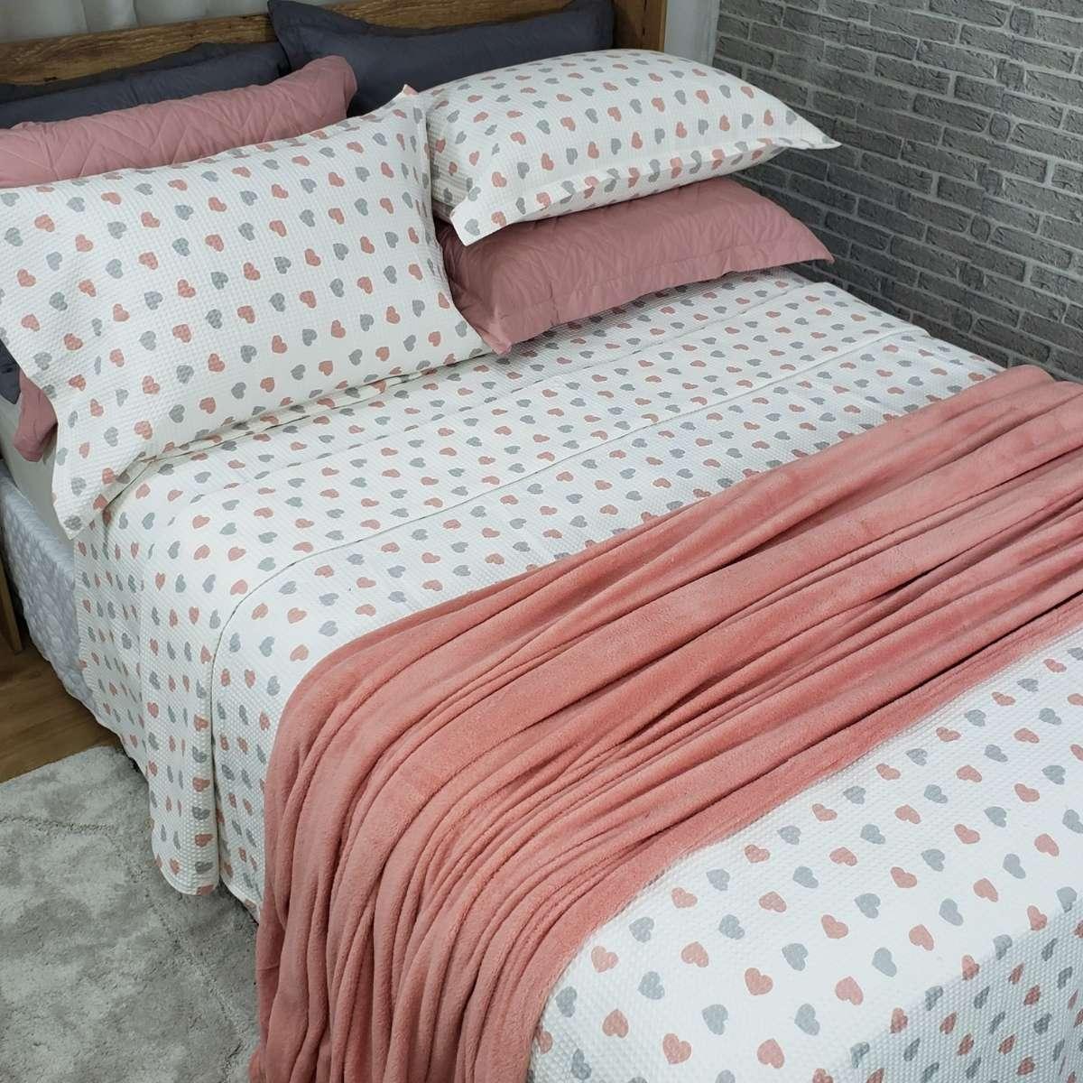 Manta Cobertor Sofisticata Queen 220x240 PESSEGO