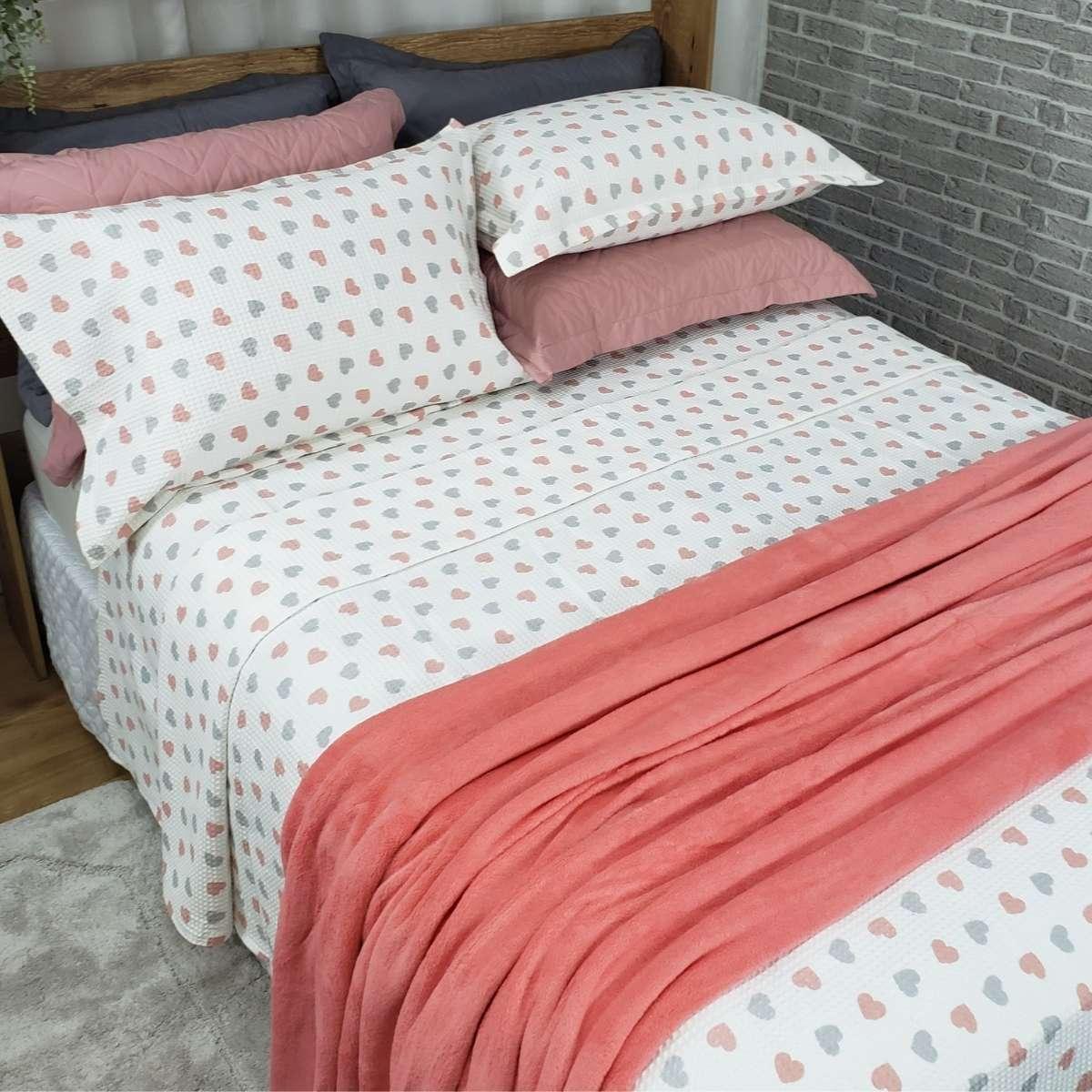 Manta Cobertor Sofisticata Queen 220x240 SALMAO