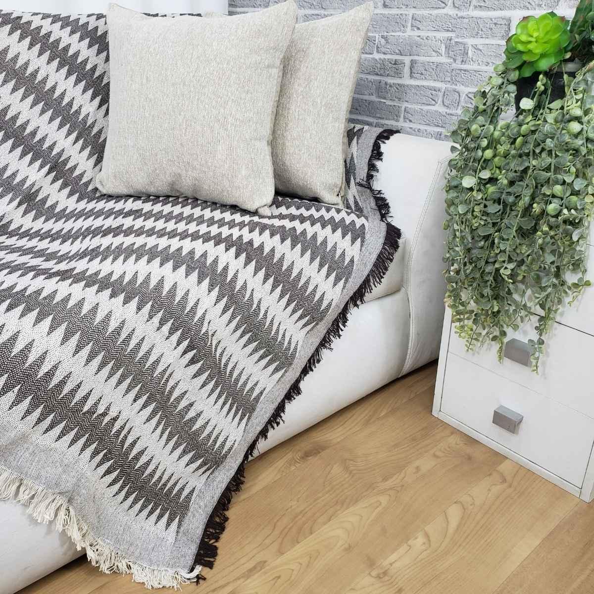 Manta sofa soft 140x170 Bali 02 Chevron Marrom