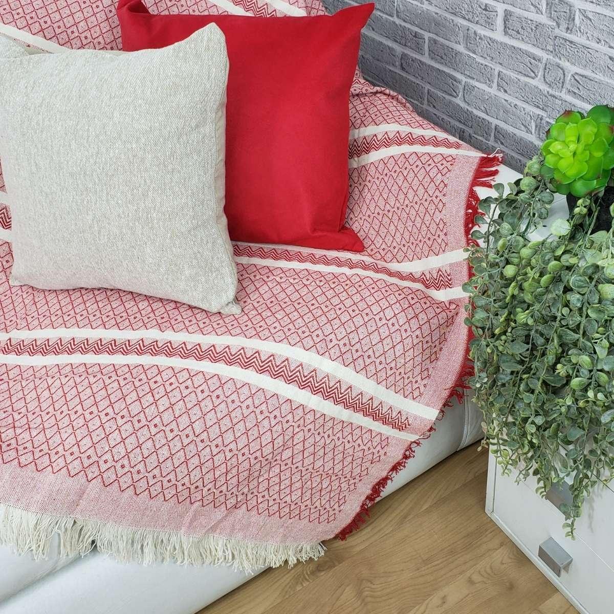 Manta sofa soft 140x170 Bali 01 Vermelha