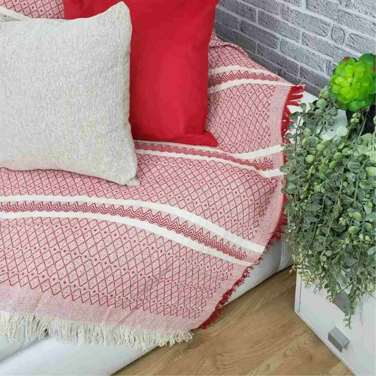 Manta sofa soft 140x170 Bali Vermelho