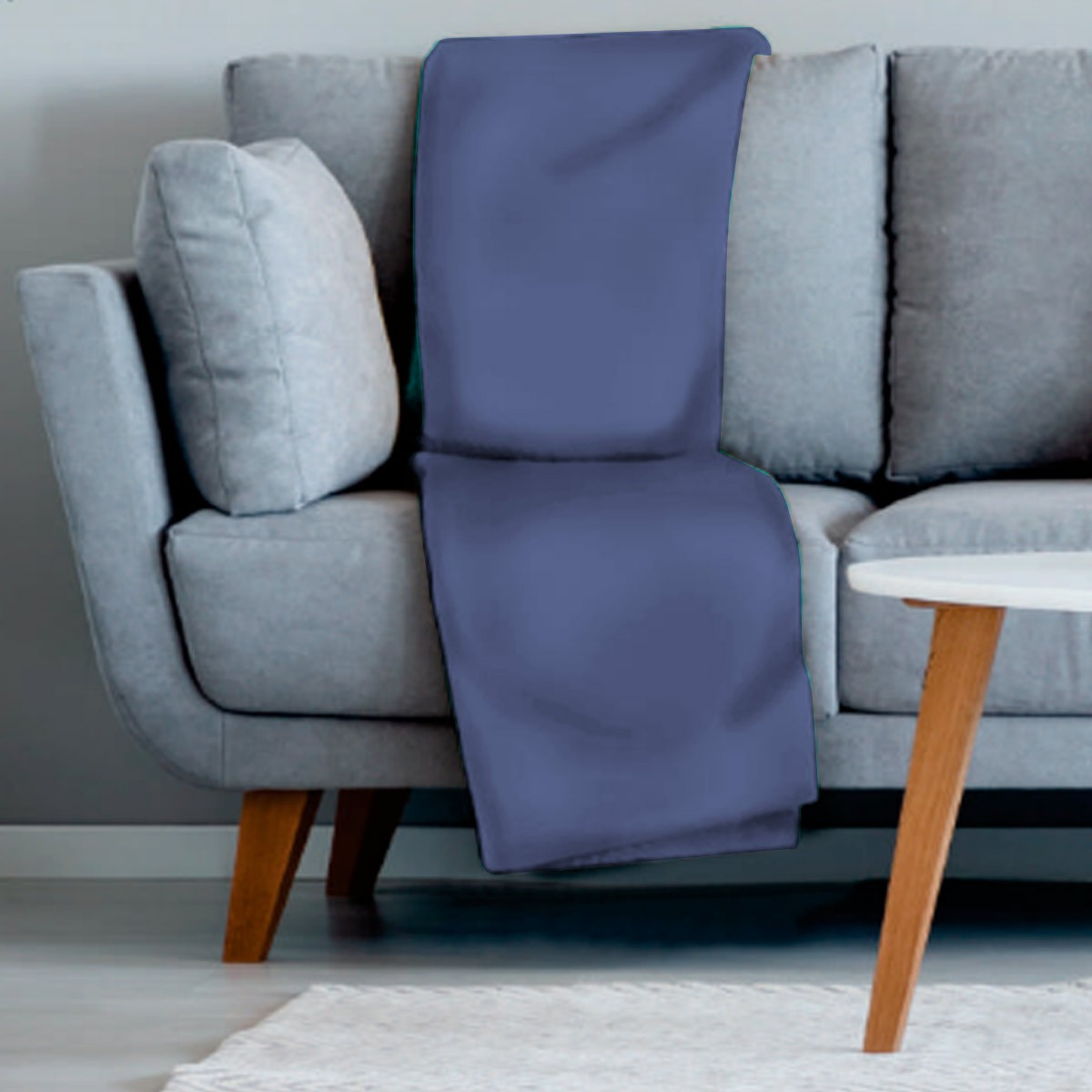 Manta sofa veludo 210x140 AZUL MARINHO