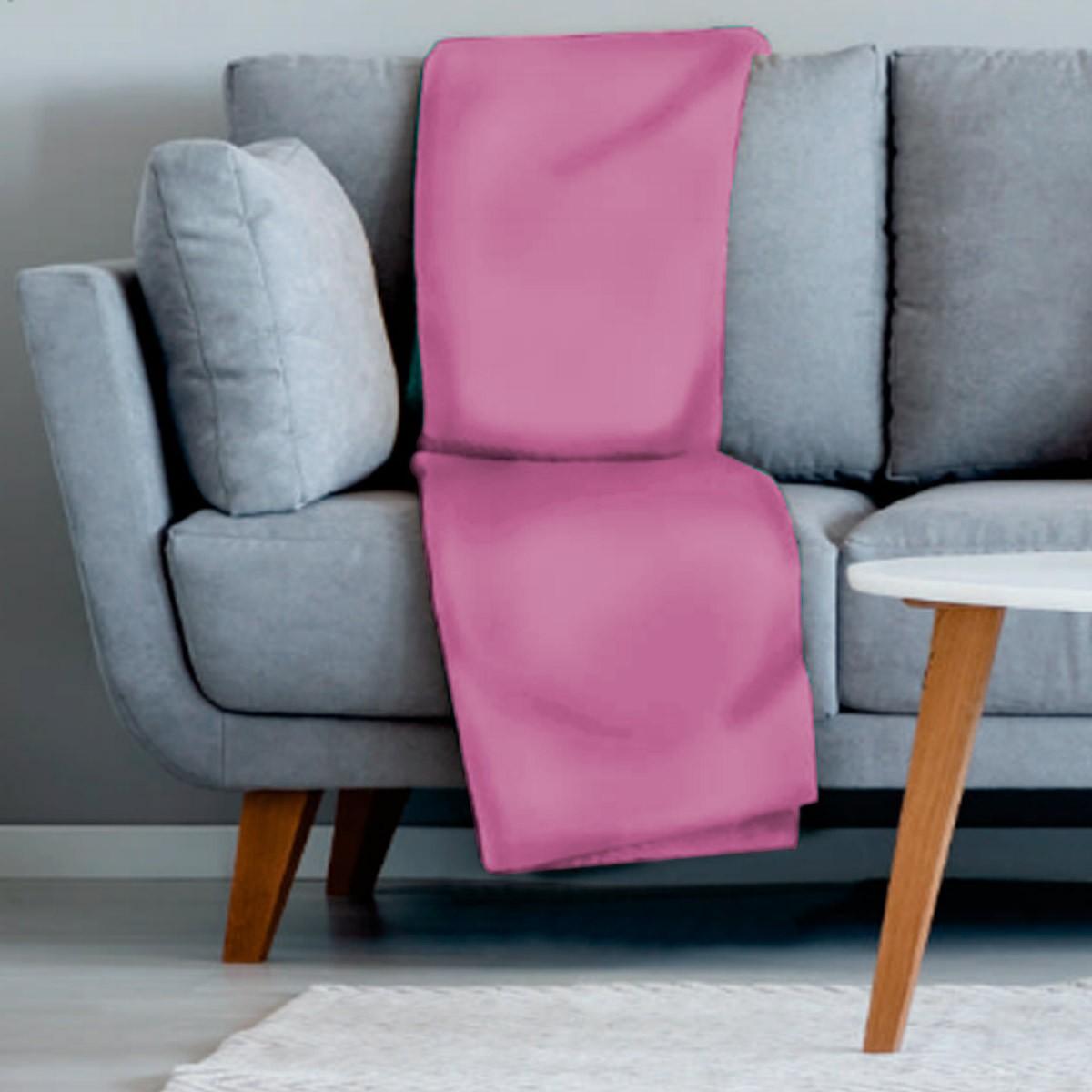 Manta sofa veludo 210x140 ROSA