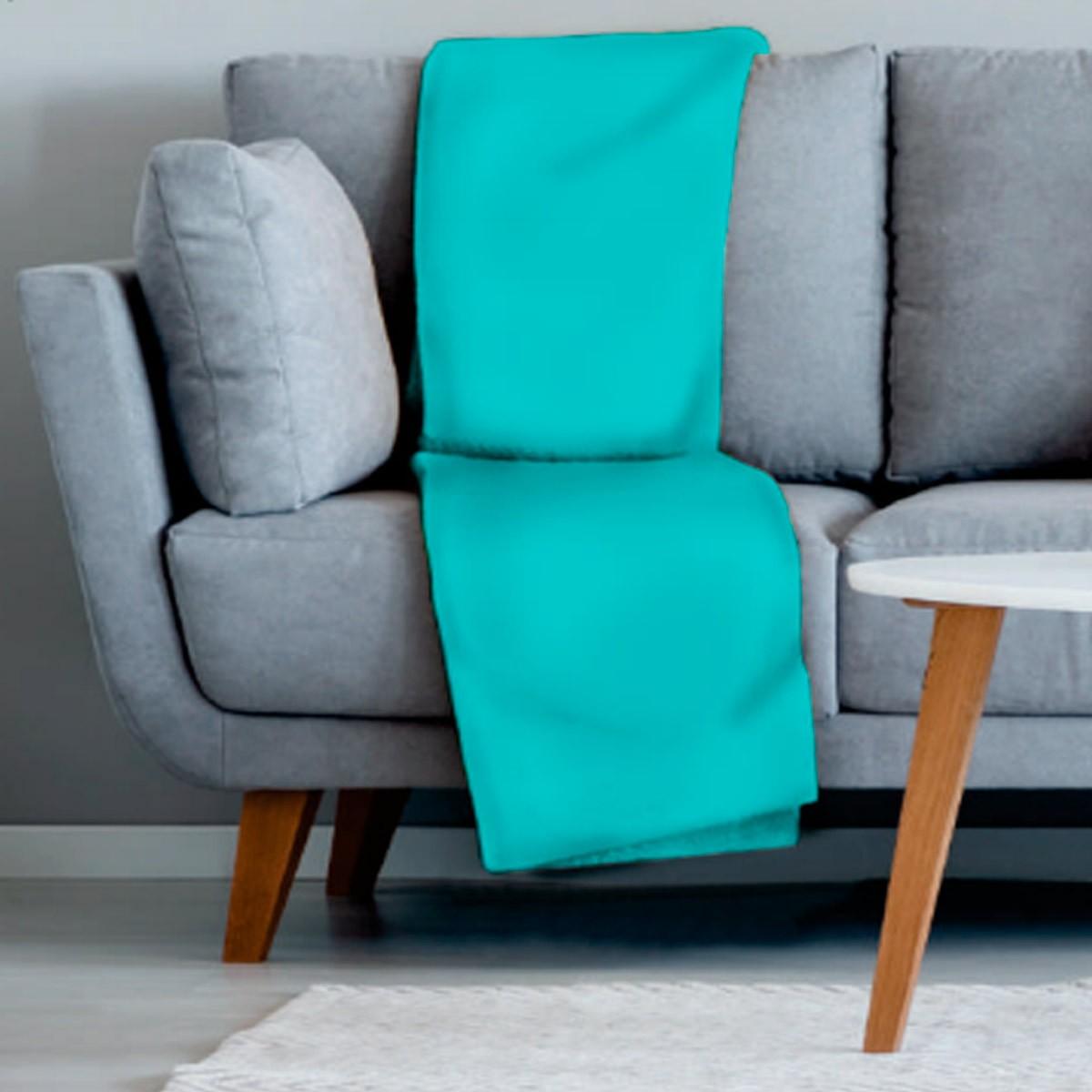Manta sofa veludo 210x140 TURQUESA