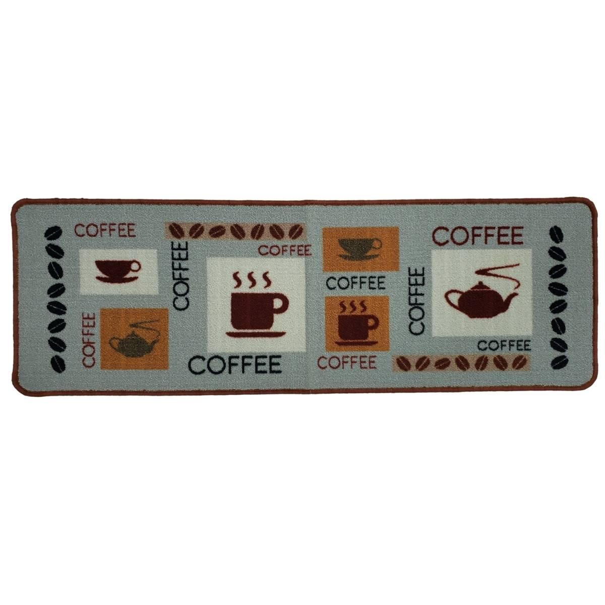 Passadeira Antiderrapante Para Cozinha 40x120 Chá e Café