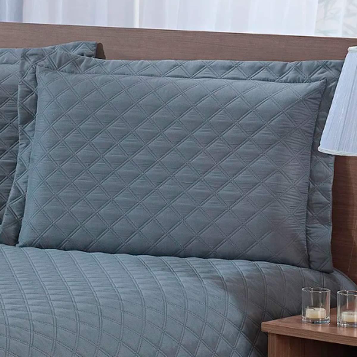 Porta travesseiro sicilia avulso CINZA