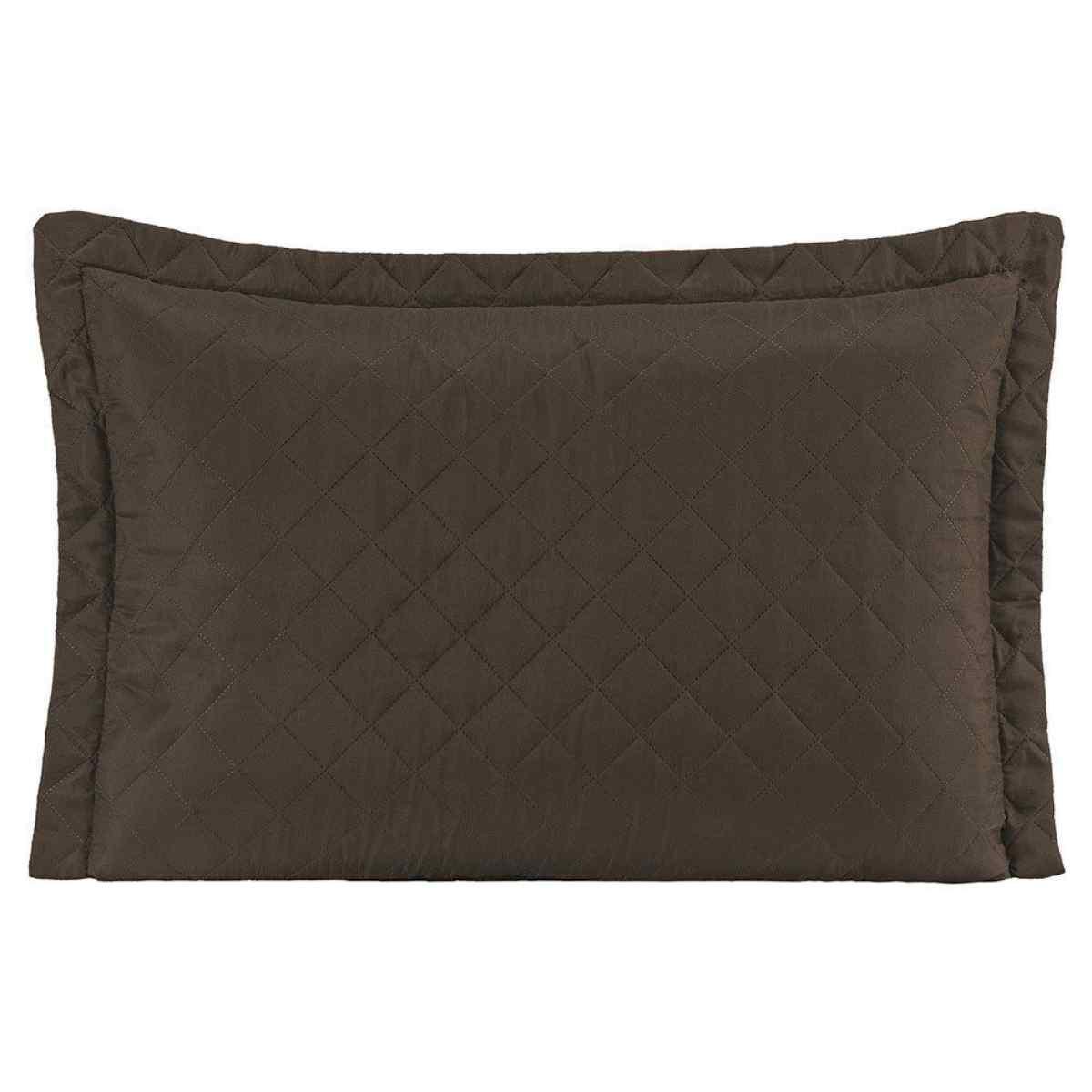 Porta Travesseiro Ultra Sônico 70x50cm Tabaco