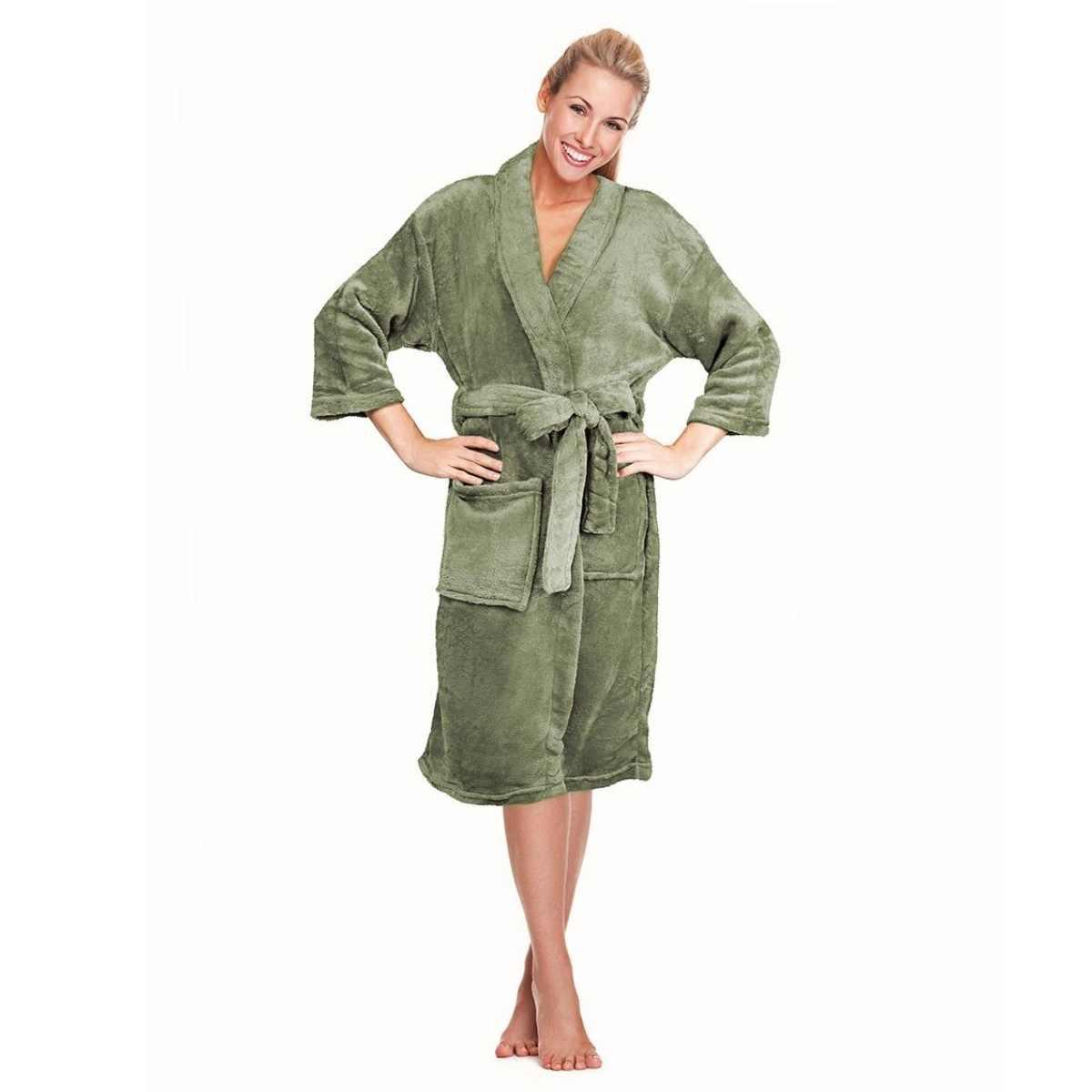 Roupao confort micro p Verde