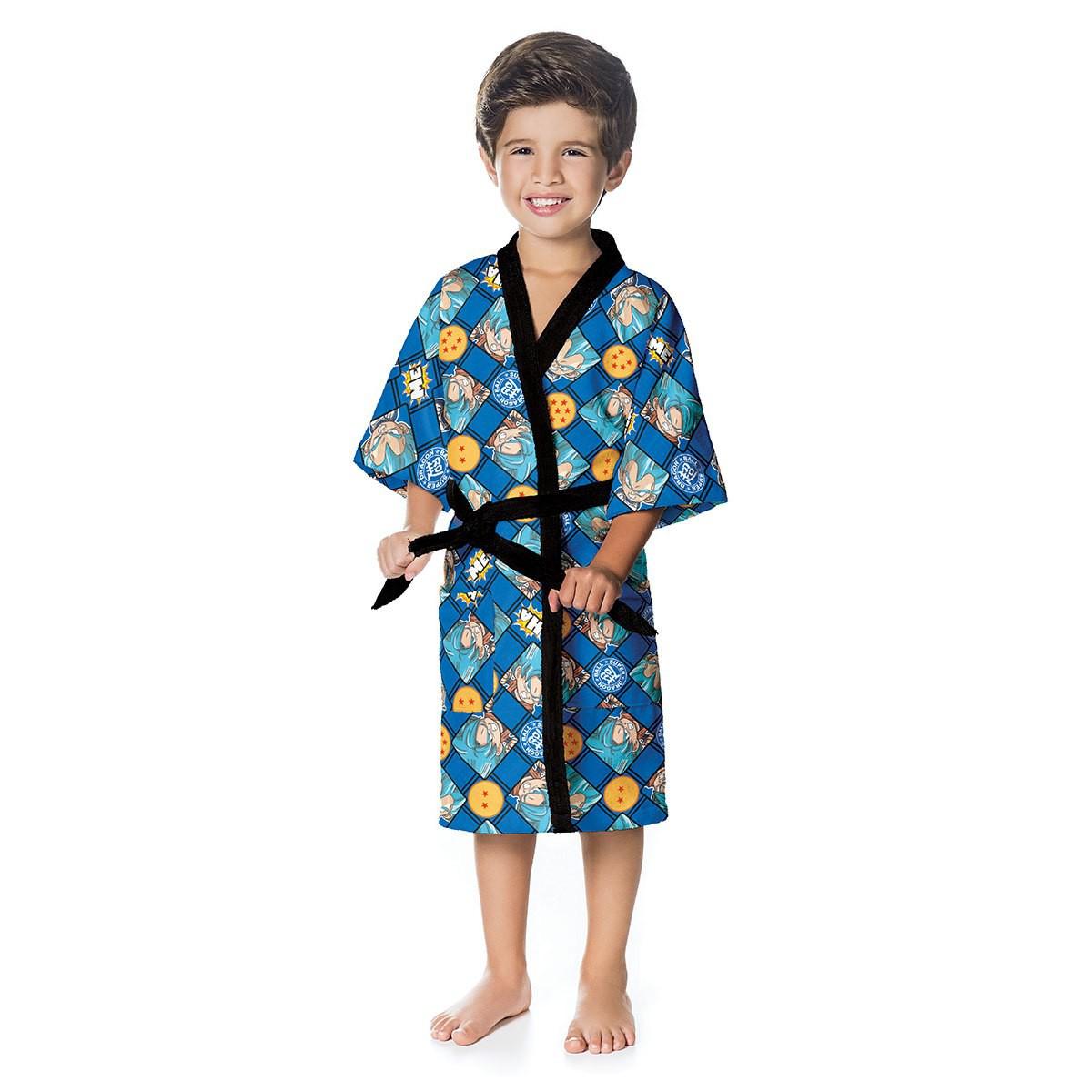 Roupão Infantil Aveludado P Dragonball 73181