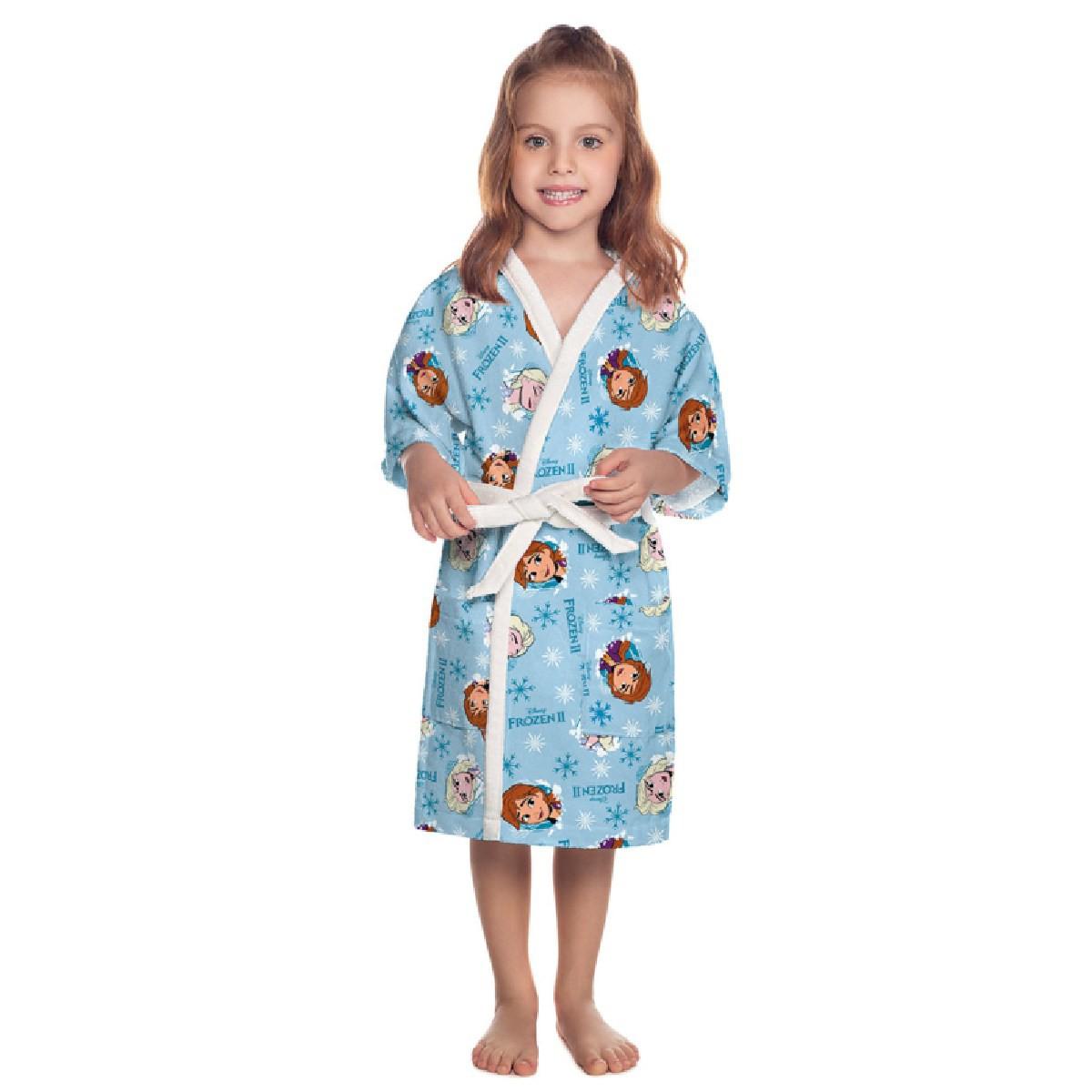 Roupão Infantil Aveludado P - Frozen 73198