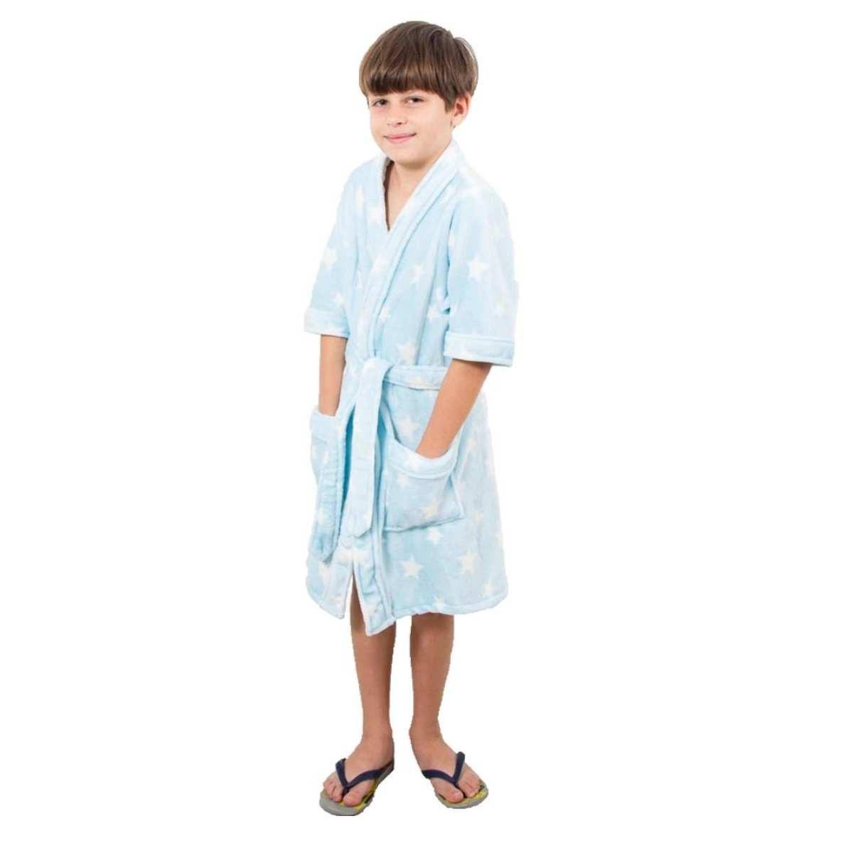 Roupao infantil zucch m Azul
