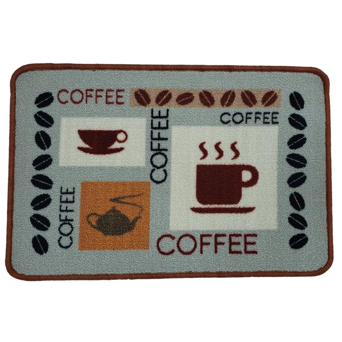 Tapete Antiderrapante Para Cozinha 40x60 Chá e Café