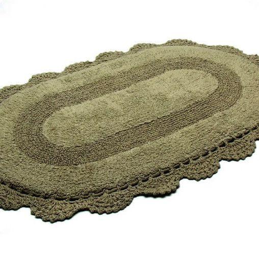 Tapete Croche Oval 40x60 SKIN