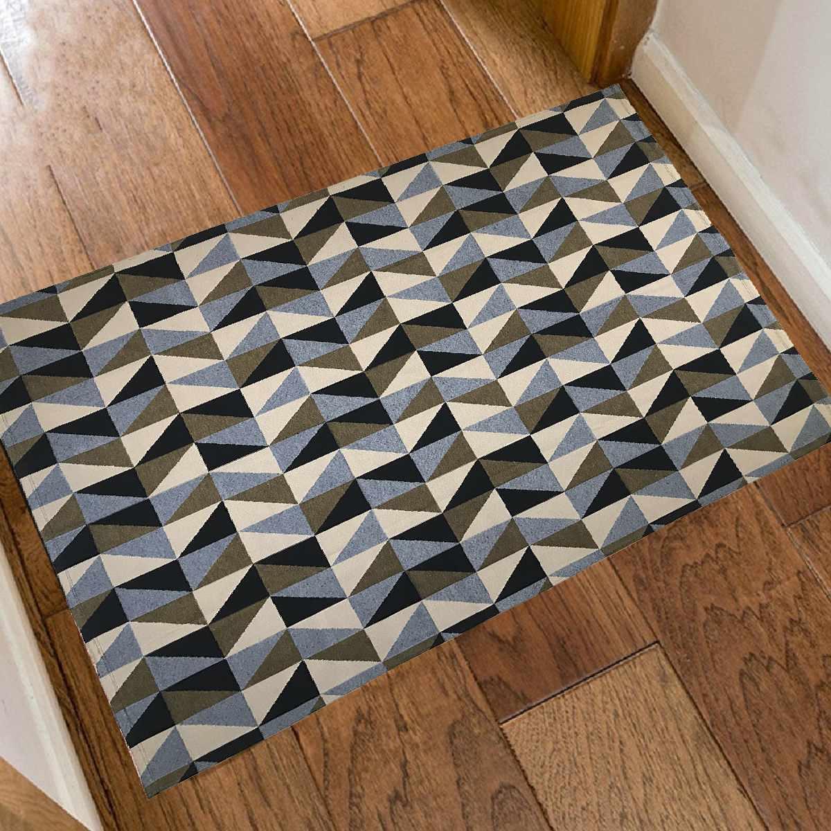 Tapete Geometrico para Sala Dubai Caramelo com Preto - 250x132